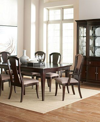 Lux dining room furniture collection dining room for Dining room tables macys