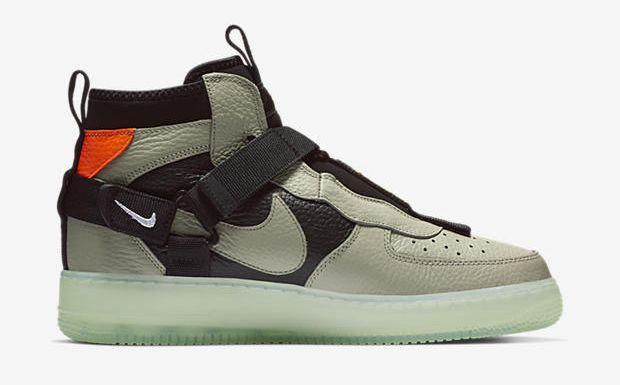 Nike Air Force 1 Utility Mid Green Black Nike Sneakers