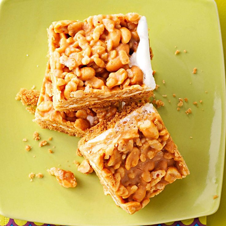 Salted Peanut Bars Recipe -You'll never look at Rice Krispies Treats the same way again after trying these nutty three-tiered cookie, marshmallow and cereal bars. —Denise Kirsch, McLeansboro, Illinois