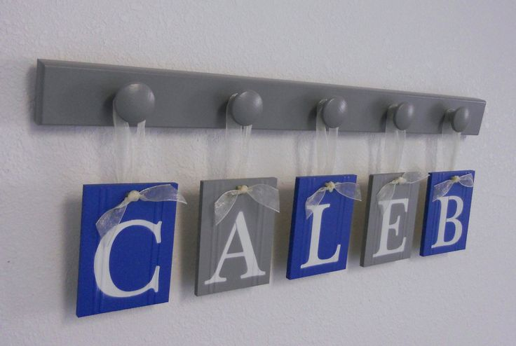 Baby Boy Nursery Decor Name Sign Set Includes Blue by NelsonsGifts, $29.00
