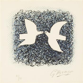 GEORGES BRAQUE Lettera amorosa: Couple d'oiseau, 1963