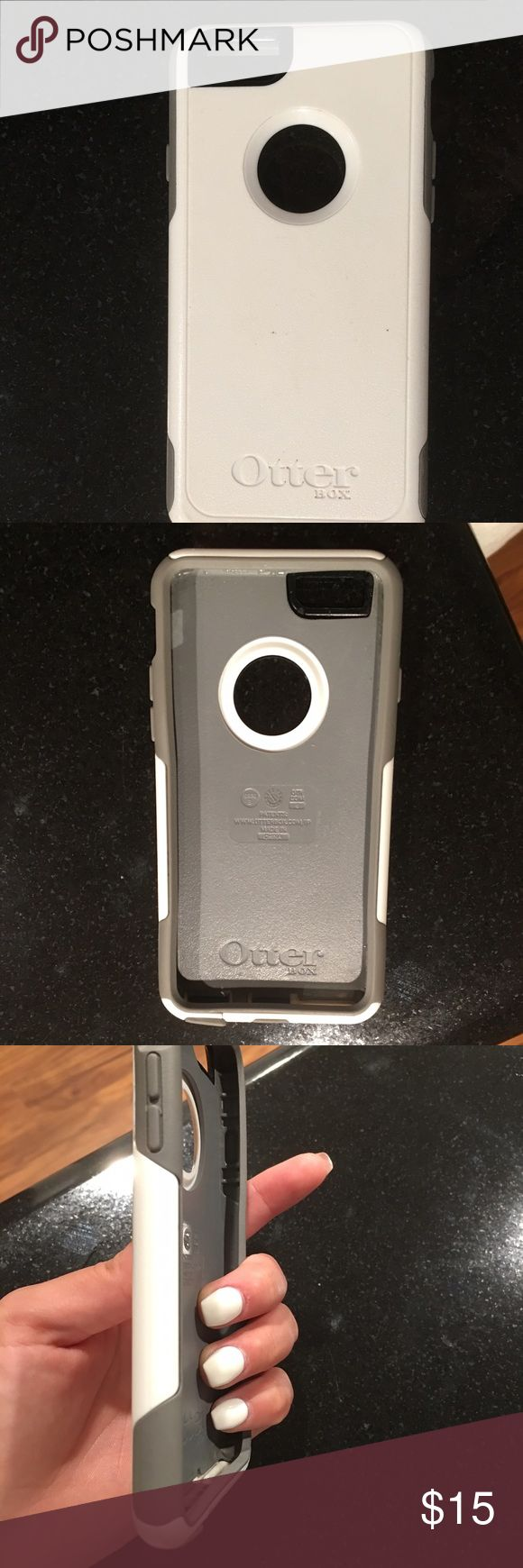 Otter box iPhone 6/6s phone case Lightly used otter box for the iPhone 6/6s from the commuter series of Otterbox. Two layer protective phone case in good condition, slight tear at bottom of case OtterBox Other
