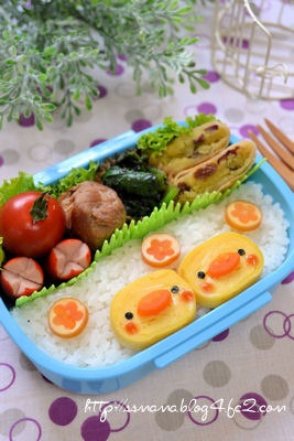 ひよこちゃんのお弁当 卵焼きが可愛く変身する・・・【レシピブログ】
