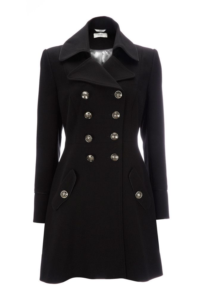 BLACK PETITE MILITARY COAT Winter Coat | Jackets And Coats | Pinterest