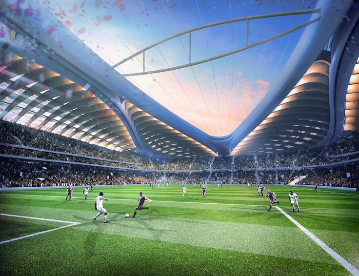 View From A Players Perspective In Al Wakrah Stadium Currently Being Constructed For The 2022 FIFA World CupTM Was Designed By AECOM