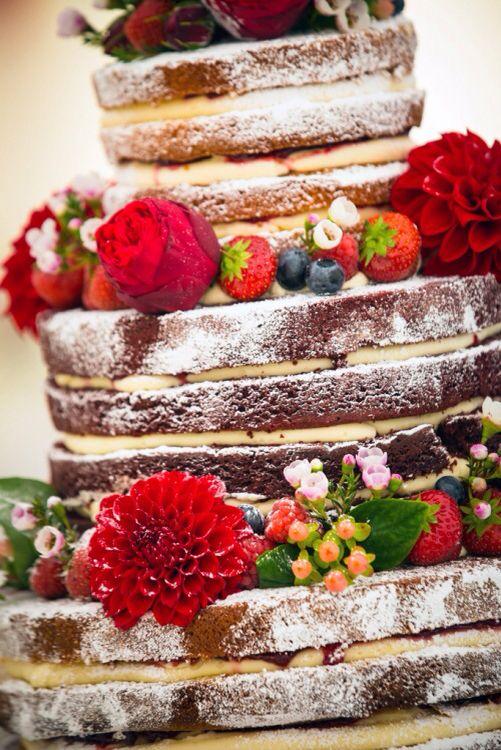 Red velvet naked cake. Photography: Mark Lord   Cake: Cake by Rachel ...