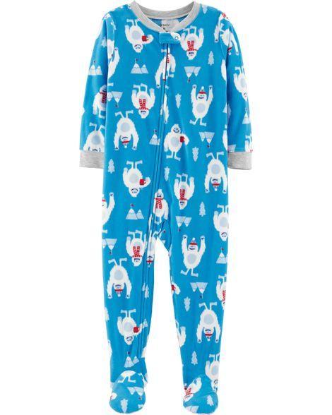 95f99898be25 1-Piece Abominable Snowman Fleece PJs