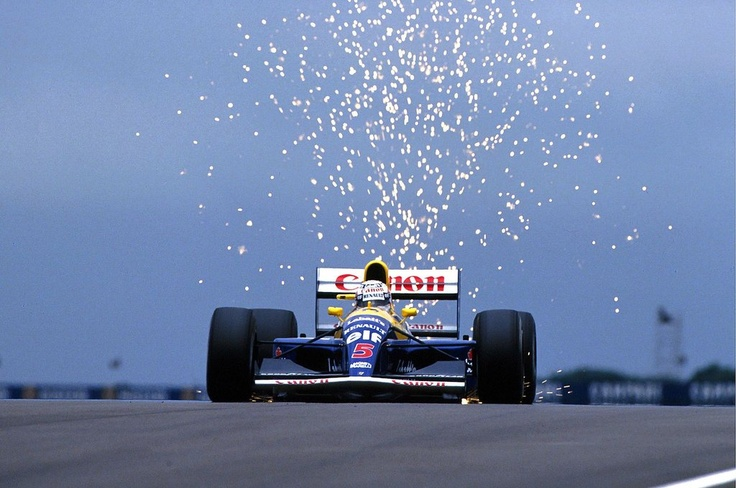 Nigel Mansell, Williams-Renault FW14B, 1992