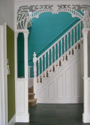 gorgeous art nouveau archway: Nouveau Archway, House Of Turquoise, Woods Home Decor, Farmhouse Dreams, Arches Way, Art Deco, Dreams Decor, Art Noveau, Art Nouveau Home Decor