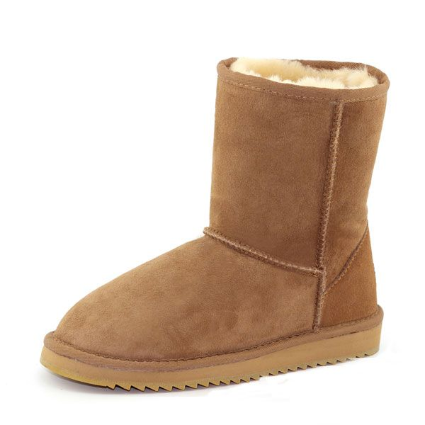 57ebd90e1d42 MG New Winter Women Wool Sheepskin Keep Warm Fashion Round Toe Low Heel Mid-Calf  Boots Snow Boots Worldwide delivery. Original best quality produc…