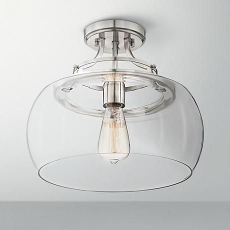 393 best industrial design images on pinterest bath light lamps charleston 13 12 wide brushed nickel ceiling light style 5n666 mozeypictures Gallery