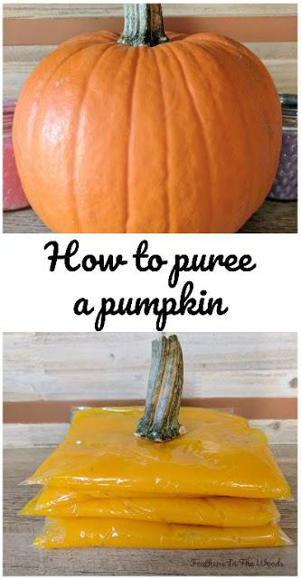 How to make fresh pumpkin puree from a whole pumpkin. Easy recipe with only a few steps.