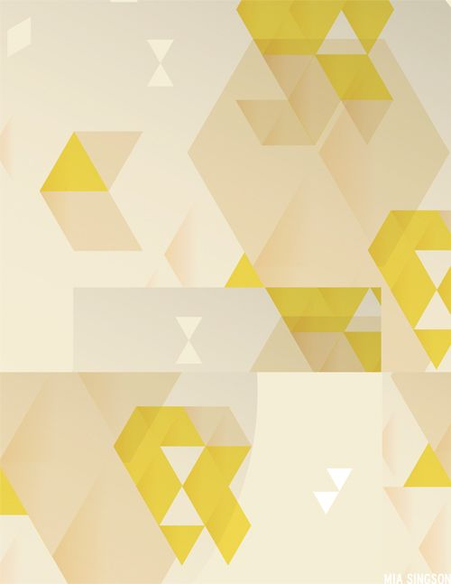 Modern Geometric Pattern with chartreuse (my favorite color) >> r f t