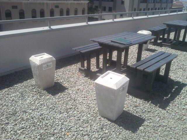 3 Butt Bak Outdoor Ashtrays at Vega School of Brand Leadership in Cape Town.