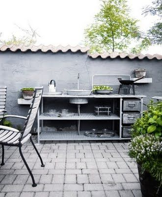 outdoor vintage kitchen