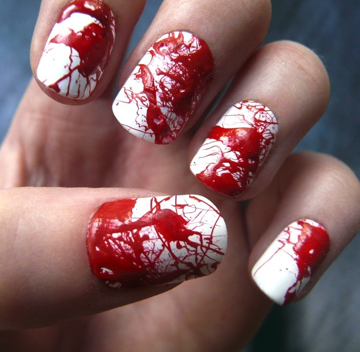 Halloween Nail Art Designs Gallery: 51 Best Images About Blood Spatter On Pinterest