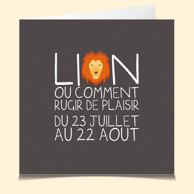 lion horoscope www.lacartevocale.com En plus, TOUS les signes y sont !!! Trop bien ...