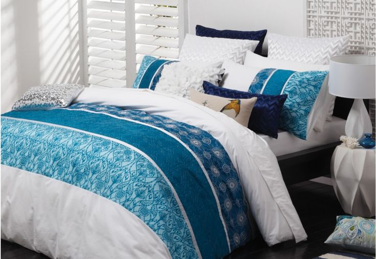 Torquay Quilt Cover Set. Blue in the bedroom is always a good idea! | Super A-Mart