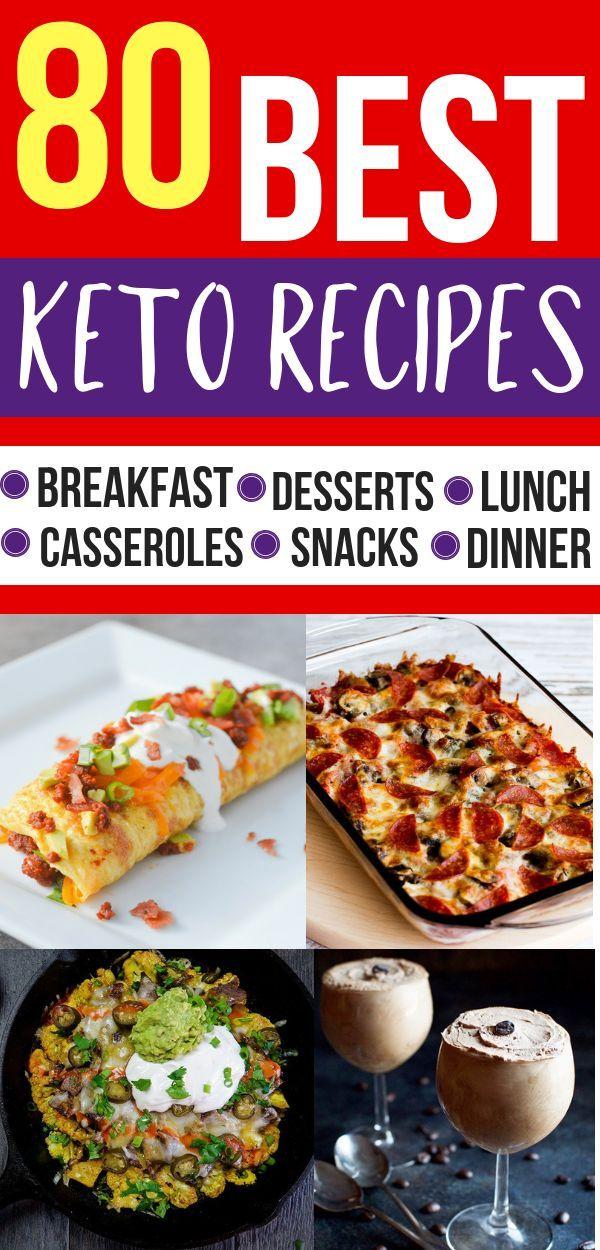 80 einfache Ketorezepte für Ihre ketogene Diät