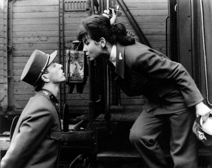 """Václav Neckář (Miloš Hrma) and Jitka Bendová (Máša), Screenshot from Jiří Menzel's """"Closely Watched Trains"""" (Ostře sledované vlaky) 1966  Miloš: """"My name is Miloš Hrma. They often laughed at my name. But otherwise we're a happy family. Our..."""