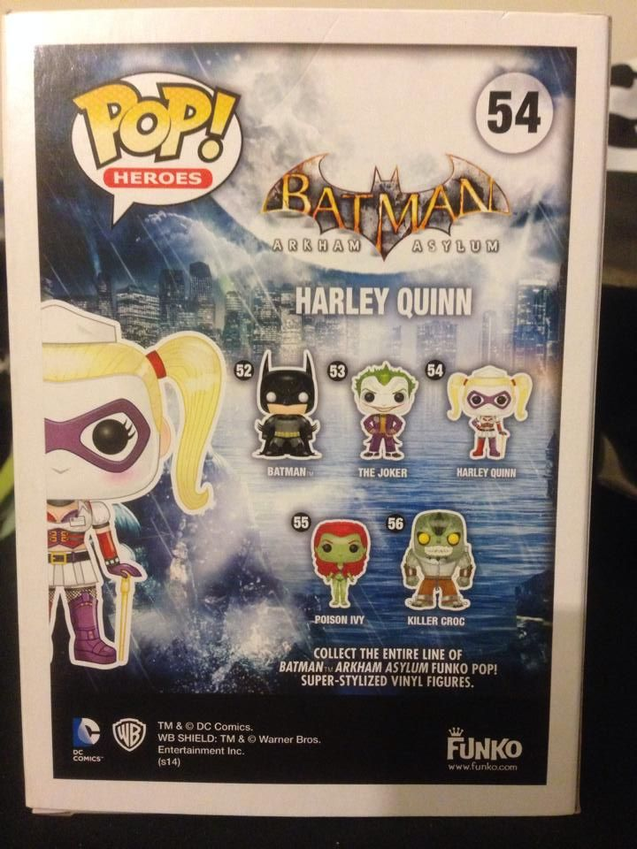 Arkham Asylum POP! Vinyl - This is the first figure in a set of five new POP!'s that also include Batman, The Joker, Poison Ivy and Killer Croc.