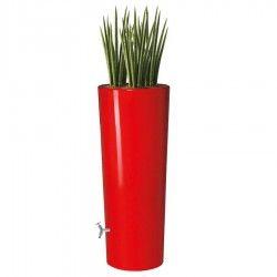 Kunststof regenton met plantenbak.
