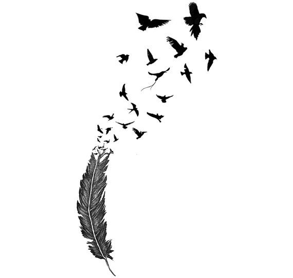Birds Of A Feather Temporary Tattoo *High Quality Die Cut Transfer*