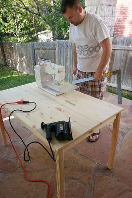 Sew E.T.: DIY Ikea Sewing Table Hack