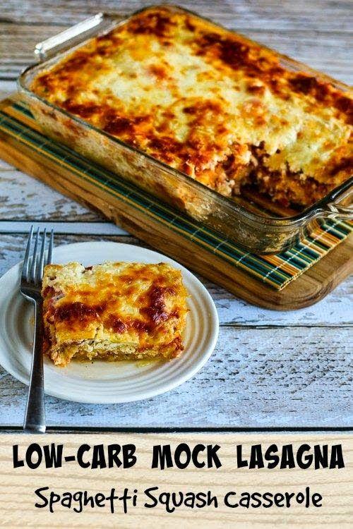 Low-Carb Mock Lasagna Spaghetti Squash Casserole
