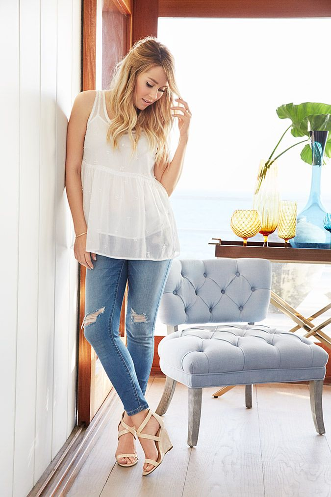 First look at LC Lauren Conrad collection for Kohl's March 2017 - Beaded peplum top $30