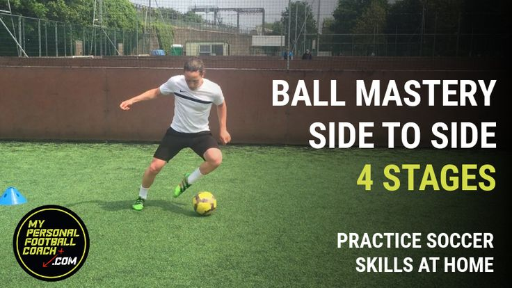 Yes you can practice soccer skills at home. Improve your footwork, speed, agility and quickness with the ball with this 4 stage soccer practice. Try it now