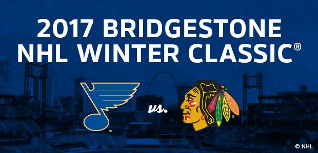 2017 Winter Classic - NHL hockey - St. Louis Blues vs. Chicago Blackhawks - Outdoors - at Busch Stadium - January 2, 2017