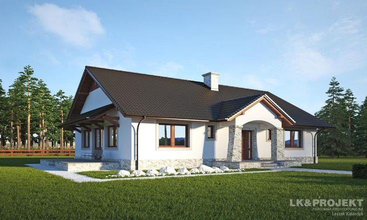 LK&806 Dom jednorodzinny parterowy.Szczegóły projektu na: http://lk-projekt.pl/lkand806-produkt-902.html