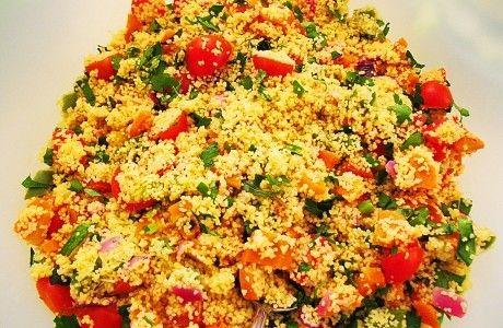 Mimos da Nina: Salada de cuscuz marroquino com legumes