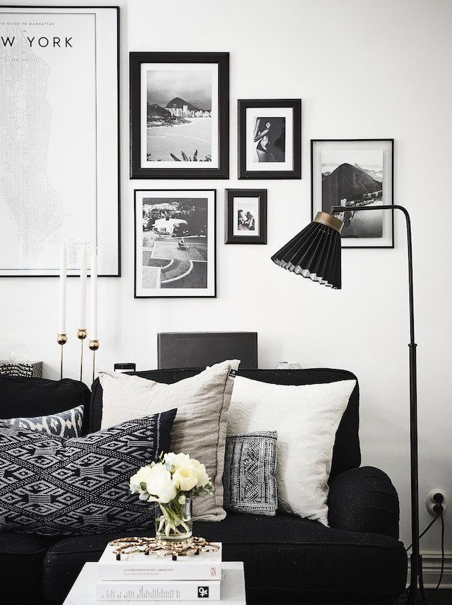 Best 25  Black couches ideas on Pinterest . Black And White Wall Pictures For Living Room. Home Design Ideas