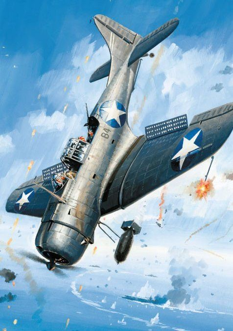 Douglas SBD Dauntless by Lucio Perinotto                                                                                                                                                                                 More