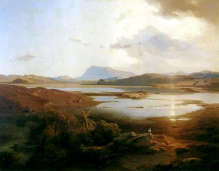Carl Anton J. Rottmann - The Lake Copais with the Mount Parnassus 19th cent