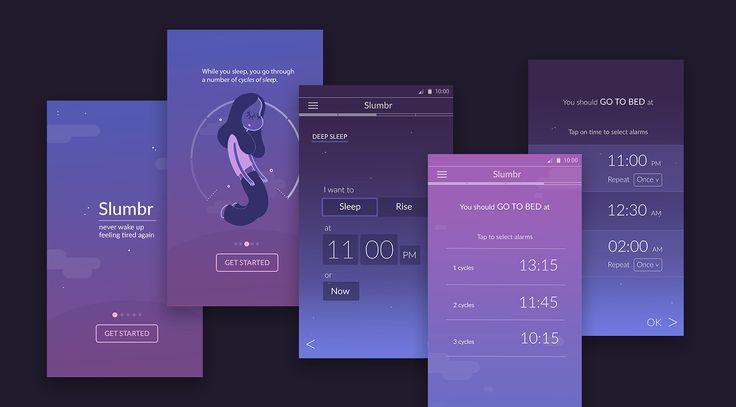 Slumbr | App Design on Behance