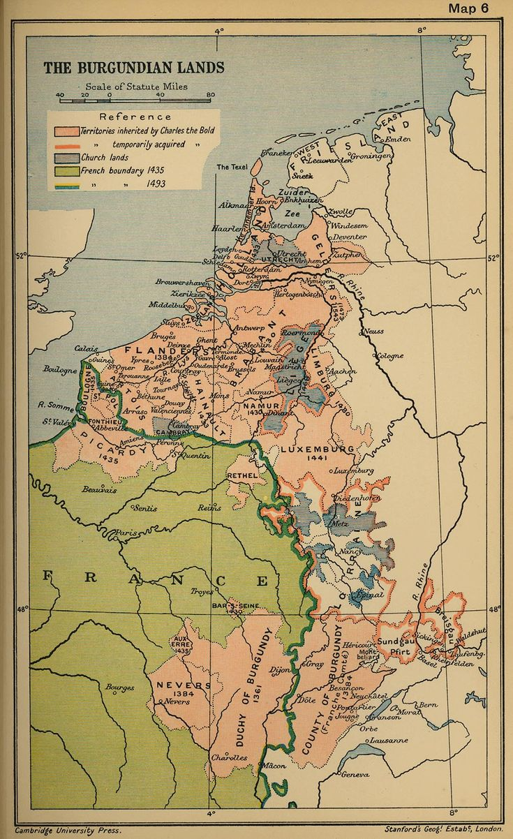 Burgundians History | The Burgundian Lands Historical Map See map details From www.lib ...