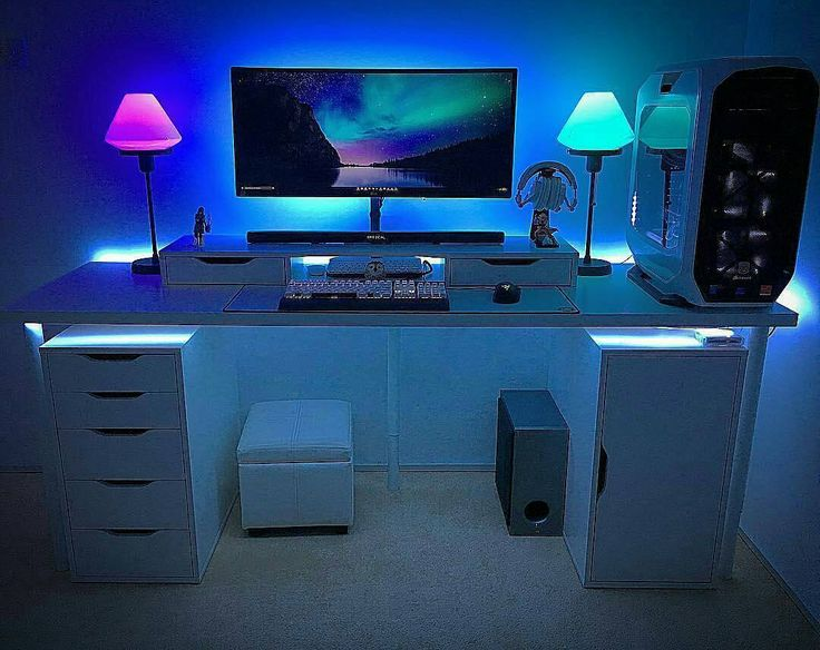 @sarz_92263 - Got a new desk painted the room got a new carpet some lamps and more LED lights My PC Specs and Peripherals 1) Corsair 780t white full tower case 2) Intel i7 5820 processor 3)Asus x99 pro 3.1 motherboard 4)G-skill 16gb DDR 4 ram 5)EVGA Geforce GPU gtx 980ti Acx 2.0 SC with bp 6)Corsair H110i cpu liquid cooler 7)2 x Samsung evo 250 gb ssd 8)2 x Western Digital green 1tb hdd 9)Corsair RM 1000 power supply 10)RGB LED light strips 11)Linnmon desk from ikea 12)LG 34UC87…
