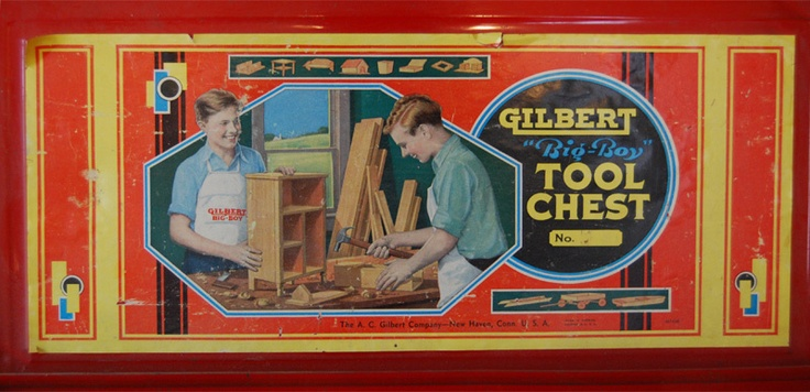 "Gilbert ""Big Boy"" Tool Chest: Terrif Toys, Tools Chest, Big Boys, Toyland Wonder, Gilbert Big, Vintage Toys, Wonder Girls, Boys Land"