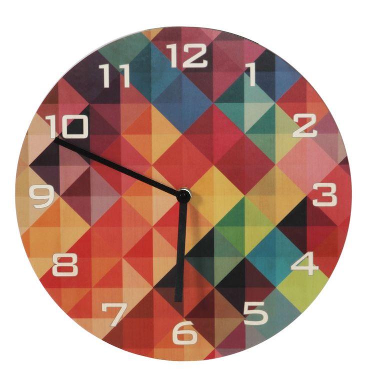 Grid Rainbow Wall Clock - Matt Blatt. Love this!