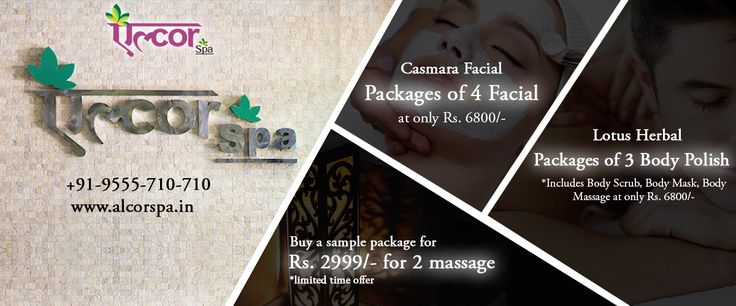 ‪#‎AlcorSpa‬ brings various exciting offers for you! Hurry up! Grab them as early as possible. ‪#‎CasmaraFacial‬ ‪#‎HerbalBodySpa‬ ‪#‎SamplePackages‬ ‪#‎Make‬ ‪#‎your‬ ‪#‎face‬ ‪#‎and‬ ‪#‎body‬ ‪#‎shine‬.