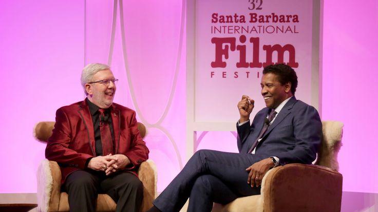 Santa Barbara Film Fest: Denzel Washington, on Campaign Trail for 'Fences,' Charms #FansnStars