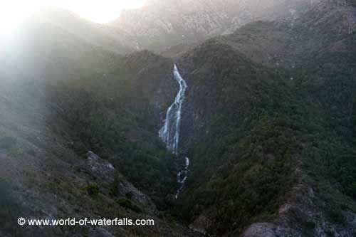 Horsetail Falls ('Queenstown Falls')  near Gormanston, Tasmania, Australia