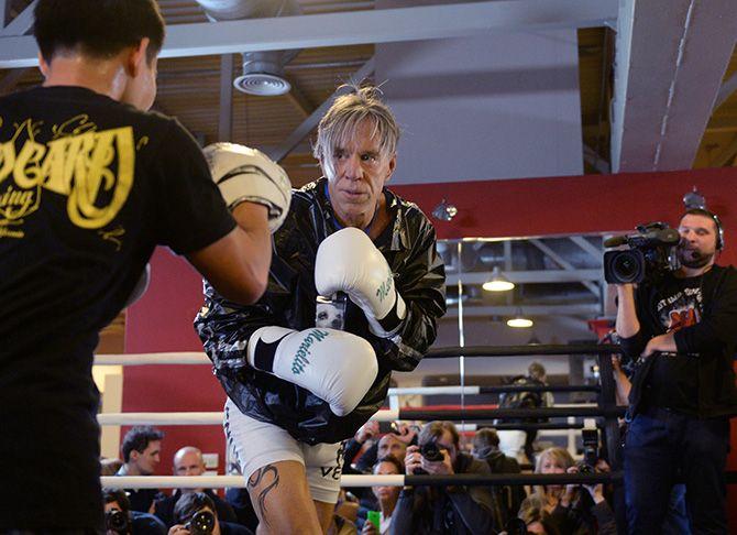 Микки Рурк готовится к возвращению на боксерский ринг - Фото блог - Блоги - Sports.ru