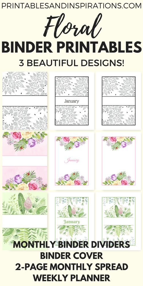 photo relating to Printable Dividers for Binders referred to as Totally free Printable Binder Dividers And Binder Handles - Floral