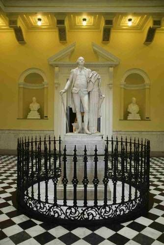 Statue of George Washington in the rotunda of the Virginia State Capitol building in Richmond. It's the only statue of President #1 done from life.