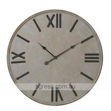 NEW Cooper Metal Wrought Iron Rustic Roman Numerals Large Wall Clock 77cm