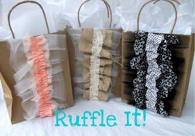Embellished Gift Bags Tutorial